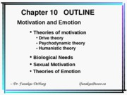 Chapter 10 Lecture Diagrams - (Motivation & Emotion) 2009-2010