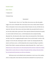 Evaluation Essay Edit