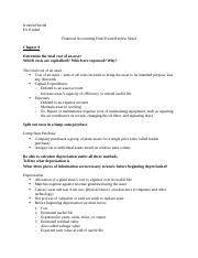 financial accounting final exam review sheet