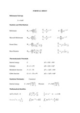 Statistical and Solid Physics Notes _exam_2005