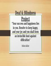 Deaf:Blindness Project.pptx
