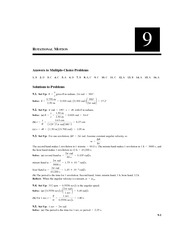 Chapter 9 Homework Solution on Physics II without Calculus II