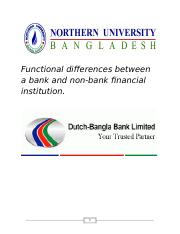 assignment on corporate finance functional difference between Bank and Non-Bank finance
