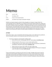 Group Memo Project