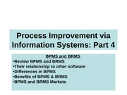 S17_BPM_Process Improvement_BPMS_Part 4 Closure