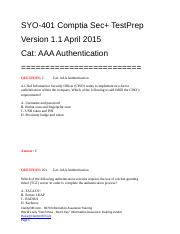 Cat AAA Authentication v1.1