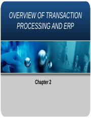 Chapter 2 Overview of Transaction Process (2)