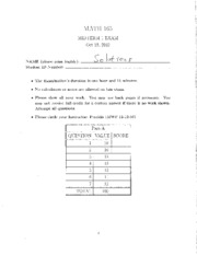 Fall 2012 Midterm Exam 1 Solutions