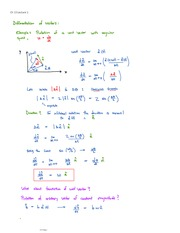Differentiation of Vectors