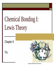 Chapter 9, Chemical Bonding I