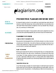 Prevention — Plagiarism