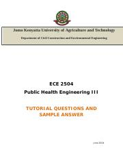 ECE 2504-Tutorial 02 - 2014 Question and sample Answer