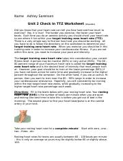 Unit 2 HR and Calculating Your TTZ