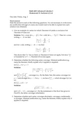Homework 13 Solution Summer 2013 on Advanced Calculus 1