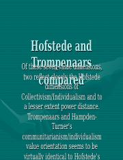 hofstede and trompenaars compared