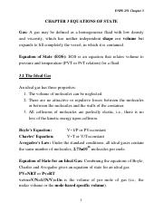 Chapter 3 Equations of State