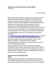 Significance of Internal Audit in Social Media.docx