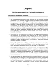 Government and Not-for-Profit Solution Manual Chapter 1