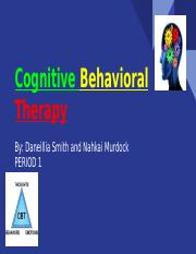 Cognitive Behavioral Therapy Presentation