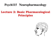 Lecture 2-Basic Pharmacological Principles