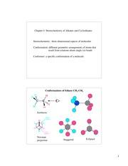 Chem 220a_Lecture Notes on Stereochemistry of Alkanes and Cycloalkanes