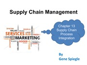 Chapter 13 Supply Chain Process Integration