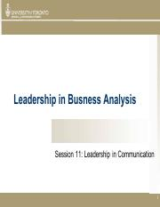 Session 11 LBA - Leadership in Communication