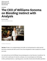 The CEO of Williams-Sonoma on Blending Instinct with Analysis - HBR.pdf