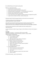 MNT 424 Counseling outline