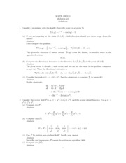 Advanced Calculus for Applications II Midterm2 Solutions