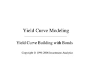 Yield Curve Building with Bonds