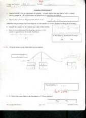 Sample Distribution Quiz