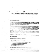 L-29 TRANSPORT AND COMMUNICATION