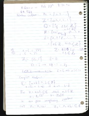 More notes on Complex numbers