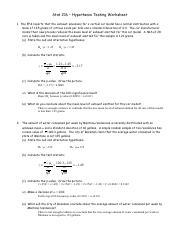 hypothesis-testing-worksheet - Stat 216 Hypothesis Testing ...