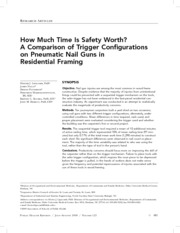 How Much Time Is Safety Worth