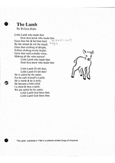 English 10_The Lamb Poem Catcher in the Rye