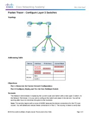 FINISHED 5.3.3.5 Packet Tracer - Configure Layer 3 Switches Instructions