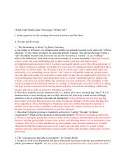 Final Exam Study Guide for Sociology 1, Winter 2017.docx