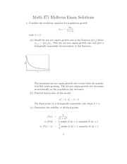 Math 371 Midterm Solution