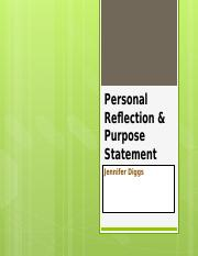 Power Point - Personal Reflection & Purpose Statement.pptx