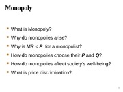 L11-Monopoly and Oligopoly