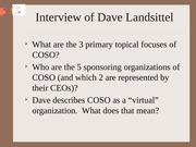 Discussion Questions - Landsittel Interview