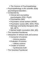The Science of Psychopathology.docx