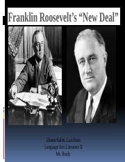"Franklin Roosevelt's ""New Deal"""