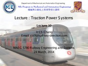 Lecture 10 - Traction Power System v2.0