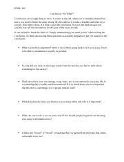 love narration engl 101 w o conclusion English composition 1 creating an outline for an essay most analytical, interpretive, or persuasive essays tend to follow the same basic pattern this page should help you formulate effective outlines for most of the essays that you will write i introduction 1 sentence to get the attention of your readers.