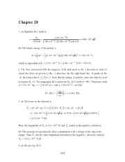 PHY2049 Chapter 28 Solutions