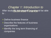 Chapter 1- Intro to Bus Fin