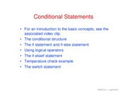 30. Conditional statements